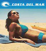 Costa Del Mar Sunglasses are great for water sports