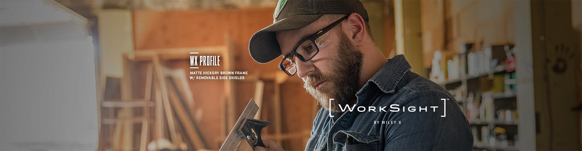 Shop Wiley X Worksight Eyeglasses & Sunglasses - model Profile featured