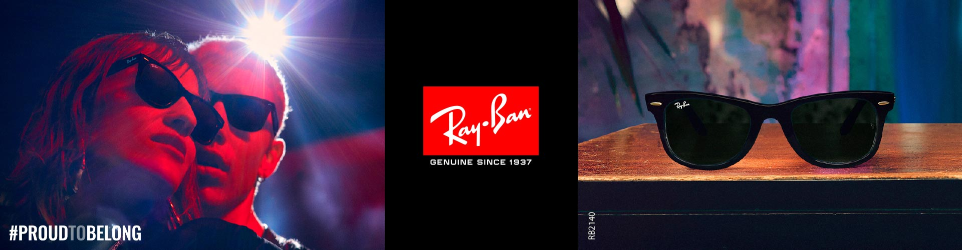 Shop Ray-Ban Sunglasses - model RB2140 featured