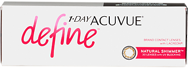 1-Day Acuvue Define in Natural Shimmer - 30 pack Contact Lenses
