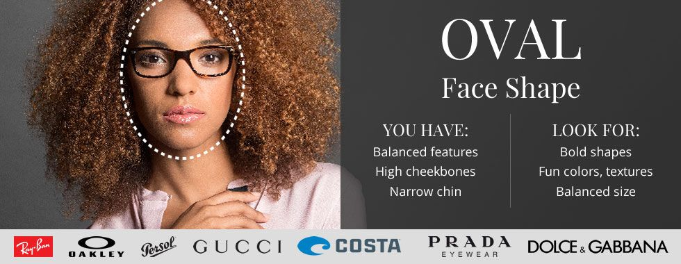 Face Shape Guide - Oval Faces: The Best Frames for Your Face