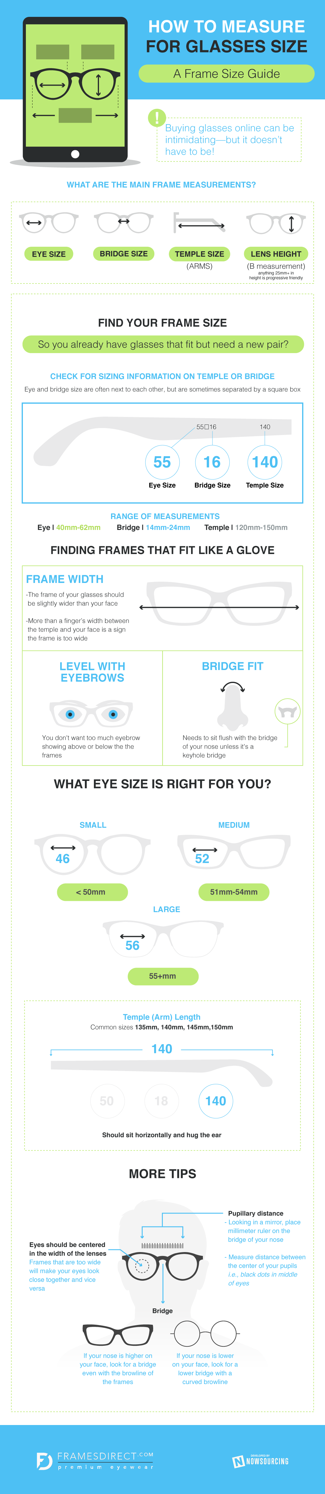 Measure Glasses Size Infographic