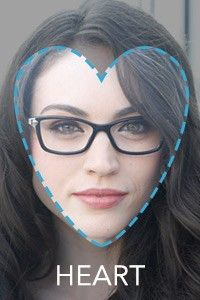 Eyeglass Frames Heart Shaped Face : Face Shape Guide: How to Choose the Best Glasses for Your Face