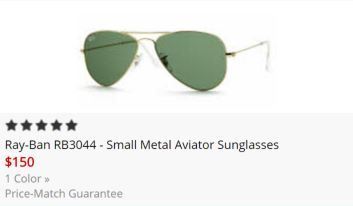 Metal Aviator Glasses 2017