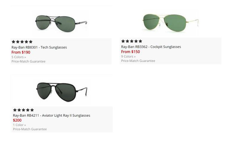 ray ban aviator measurements  Ray-Ban Aviator Sizes