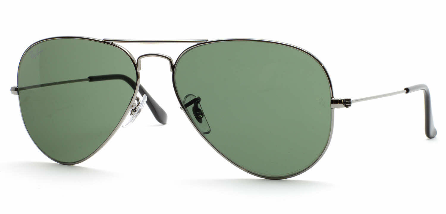 ray ban green glass golden frame  ray ban rb3025 large metal aviator sunglasses