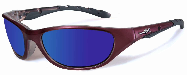 9d6ebd64d74 Wiley X Airrage Sunglasses Polarized Blue Mirror Gloss Black ...