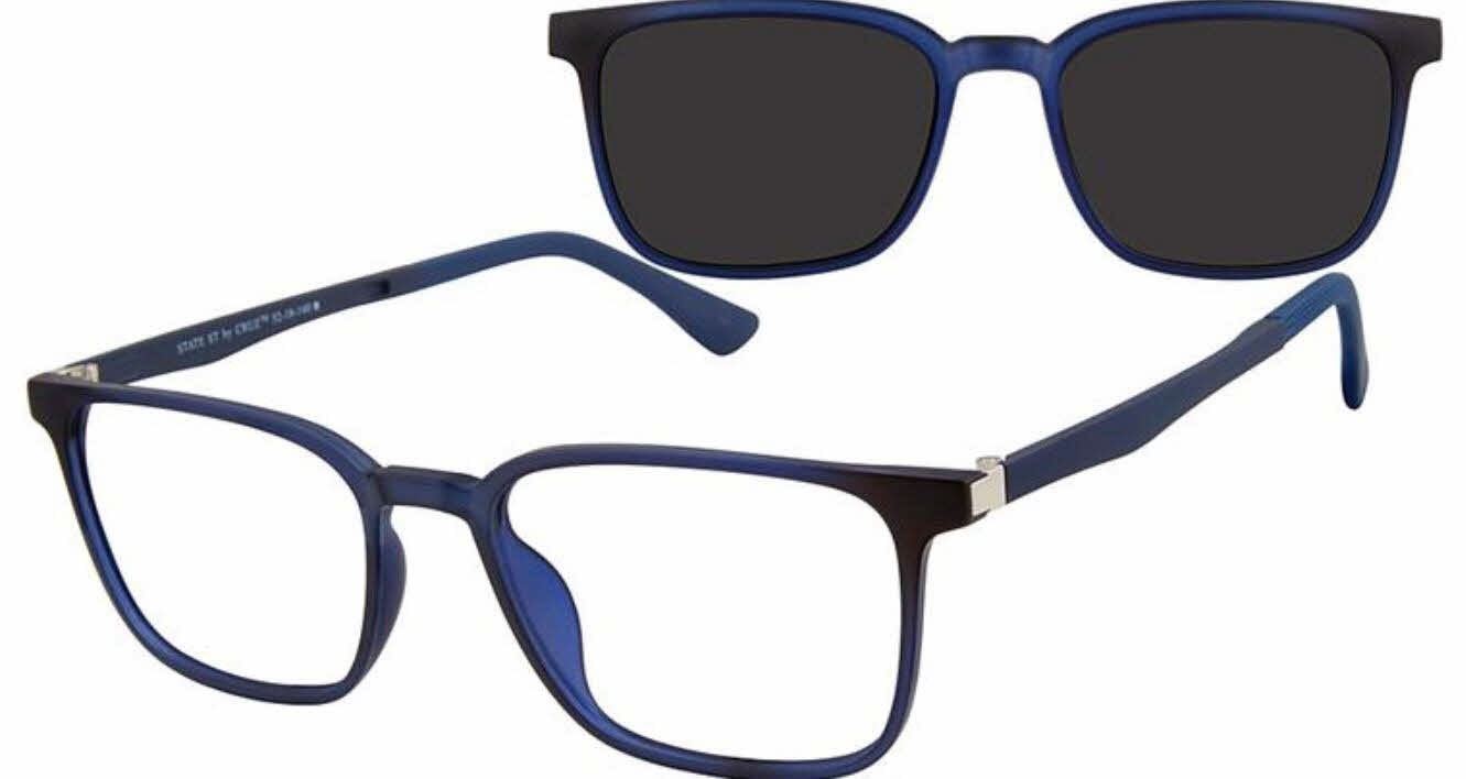 Cruz State St - With Clip on lens Eyeglasses
