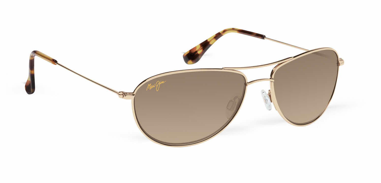 Maui Jim Baby Beach 245 Sunglasses Rose Gold with Polarized Maui Sunrise Lens