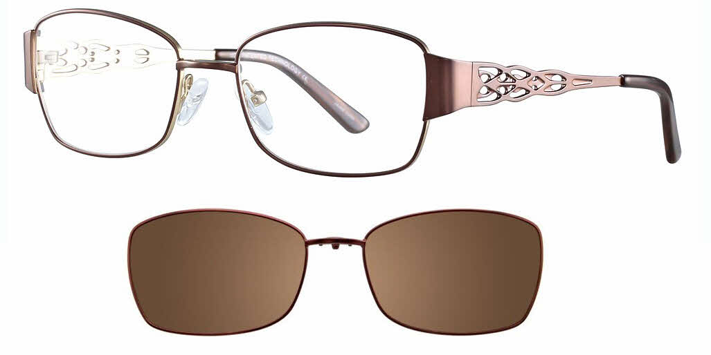 MDX Manhattan S3324-With Magnetic Clip on Lens Eyeglasses