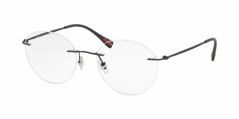 707283cb788c ... promo code prada linea rossa ps 52iv eyeglasses 7f7e7 cba30 order prada  mens rimless glasses ...