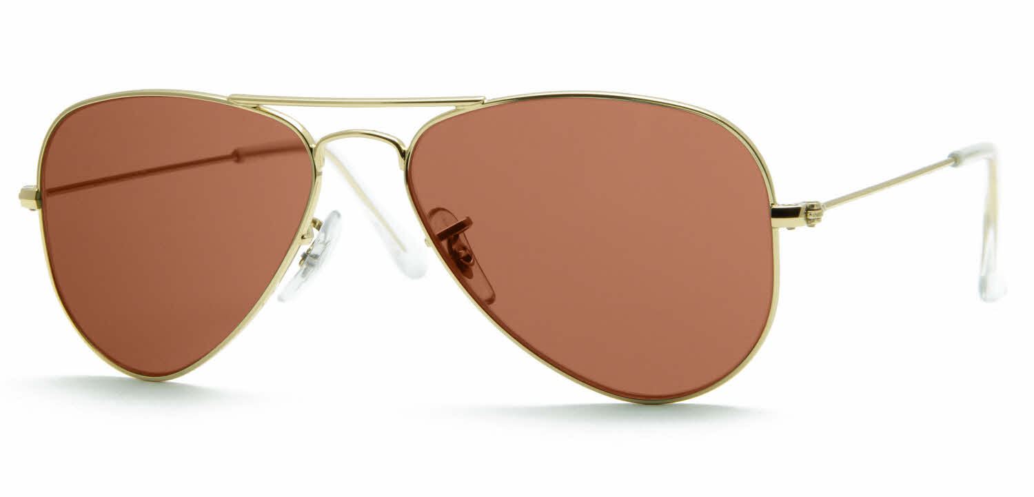 ray ban aviator prescription glasses uk  RayBan RB3044 gold brn wm angle