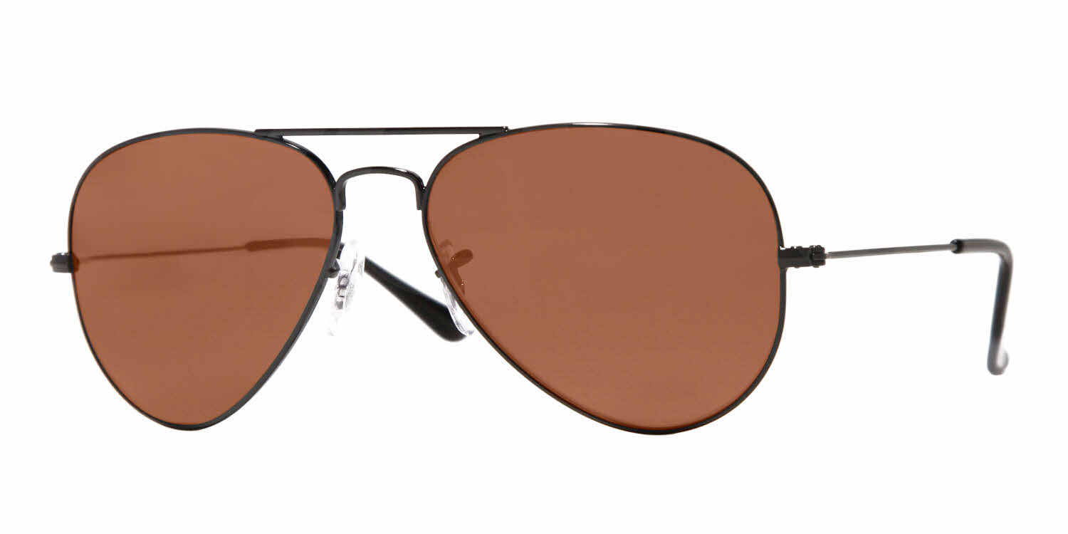 ray ban aviator sunglasses prescription  ray Ban RB3025 black brn wm angle