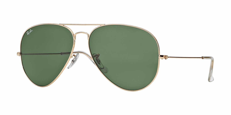 Ray Ban Big Frame Glasses : Ray-Ban RB3026 - Large Metal II Aviator Sunglasses