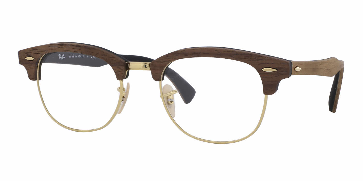Wood Frame For Glasses : Ray-Ban RX5154M Clubmaster Wood Eyeglasses Free Shipping