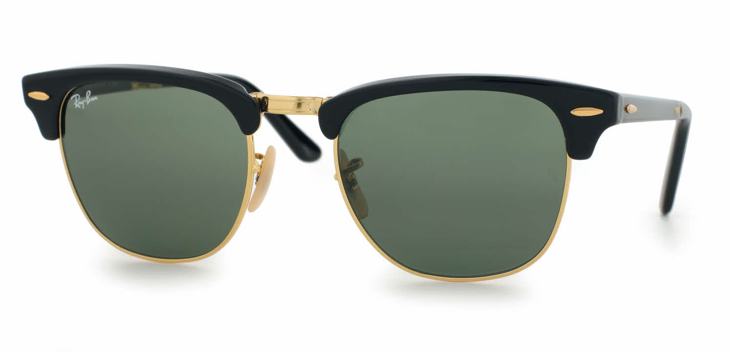 ray ban sunglasses black gold  ray ban rb2176 folding clubmaster sunglasses