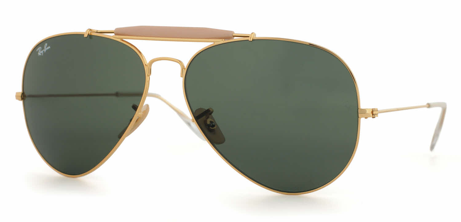 Ray Ban Sunglasses Aviators  ray ban rb3029 outdoorsman ii aviator sunglasses