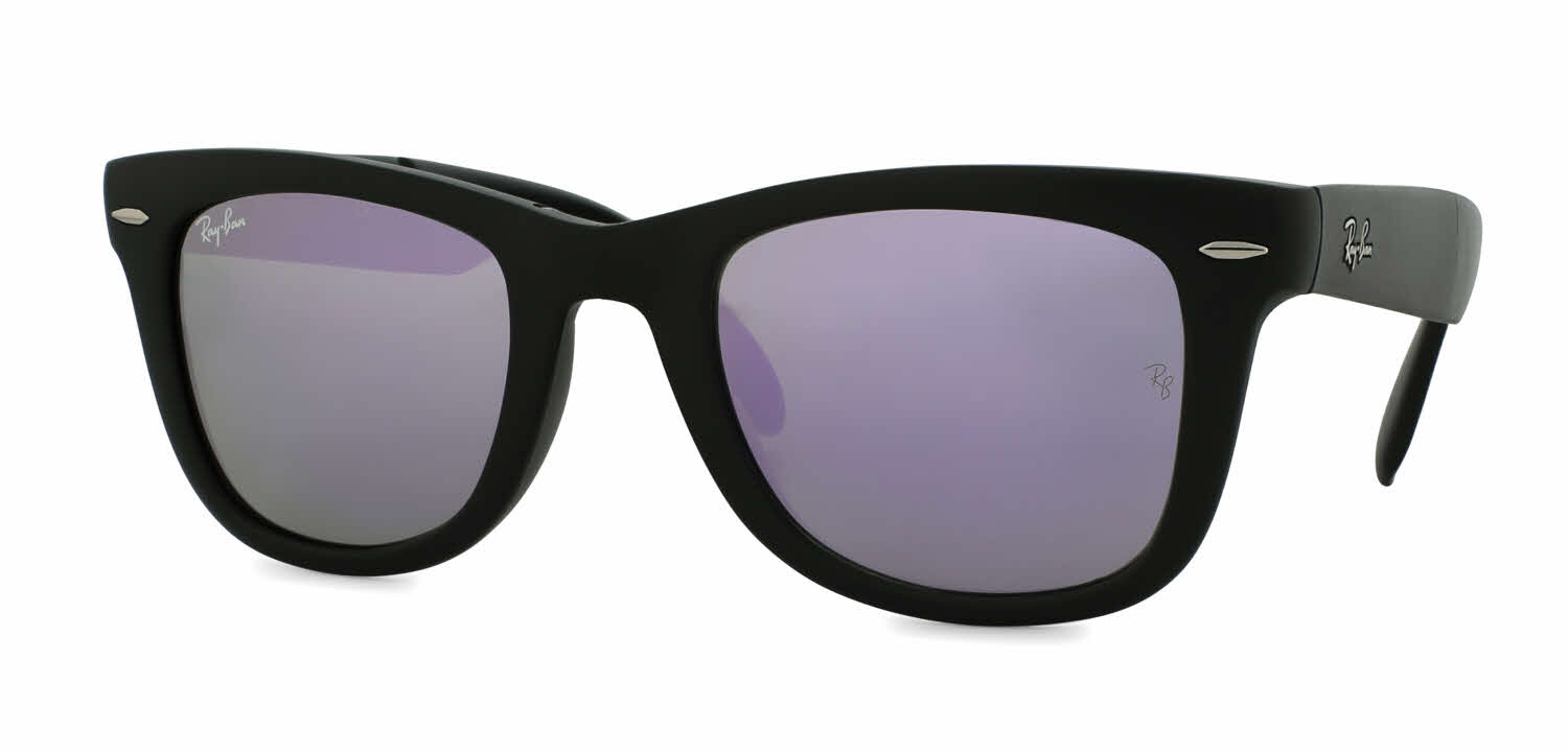 ray ban unisex rb4105 folding wayfarer sunglasses  ray ban rb4105 folding wayfarer sunglasses