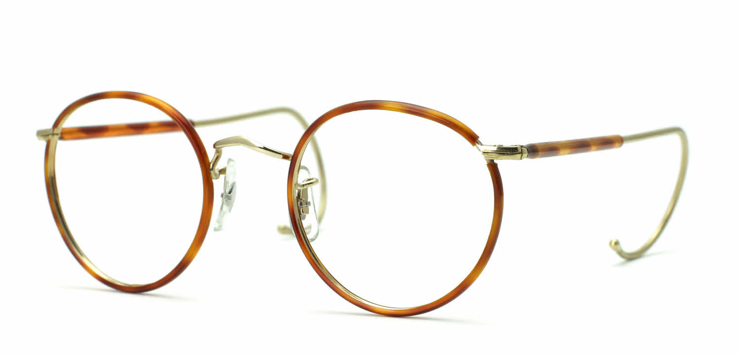 Eyeglass Frame Temple : Savile Row 18Kt Beaufort - Half Covered Cable Temples ...