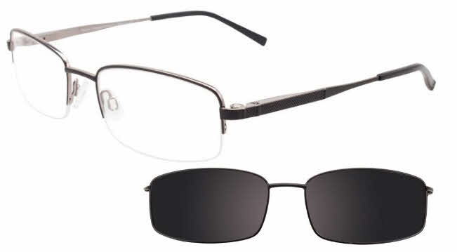 4c47689773 Takumi TK1081-With Polarized Clip on Lens Eyeglasses