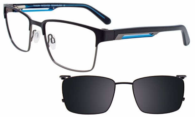 Takumi TK1047-With Magnetic Clip on Lens Eyeglasses