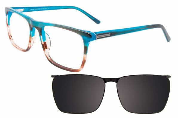 Takumi TK1068-With Magnetic Clip on Lens Eyeglasses