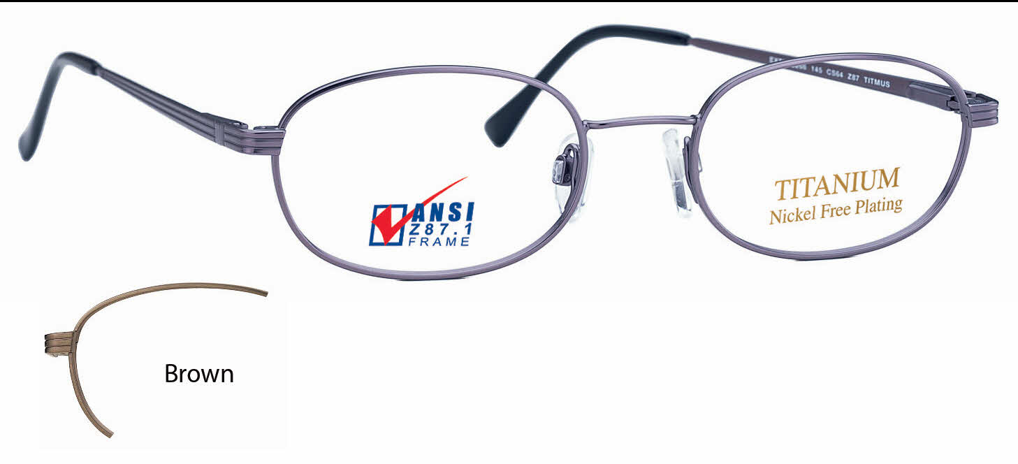 Titmus EXT 8 with Side Shields -Titanium Collection Eyeglasses